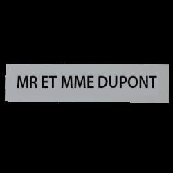 Étiquette Gravée Boite à Lettres Individuelle - H21 x L110 x P1.5mm