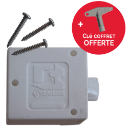 Serrure Rectangle Porte de Coffret Paninter / Minimixt + Clé serrure triangle rectangle offerte