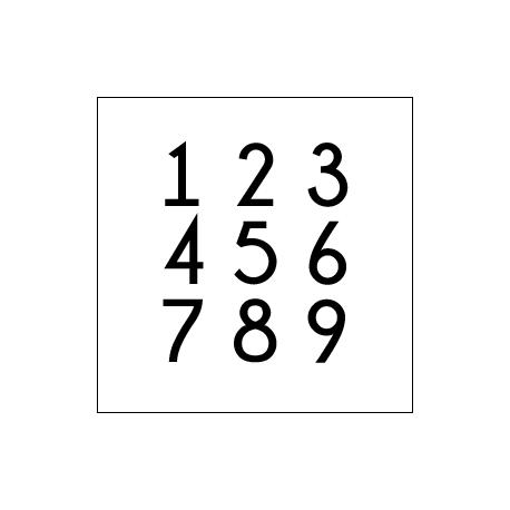 Marquage adhésif - Numéro, logo - découpe à la forme