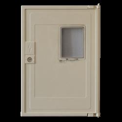 Porte de coffret Electrique Beige avec Hublot - MINIMIXT S20