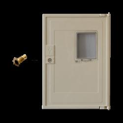 Pack Porte Minimixt S20 Hublot beige électrique + système de verouillage