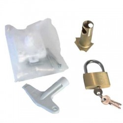 Pack de verrouillage : serrure triangle, clé, canon, cadenas