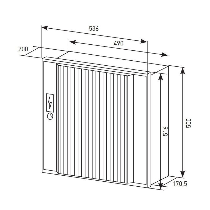 Extrêmement Porte de Coffret PANINTER Electrique S15 Beige EDF Changer votre porte DN26
