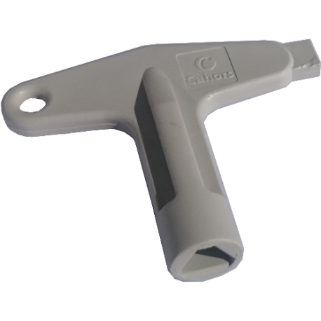 Cl pour ouverture de coffrets avec serrure triangle 11mm for Ouverture de porte electrique