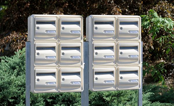 Boites aux lettres ensemble de 8 extérieures collectives Element5 gamme corail beige b6