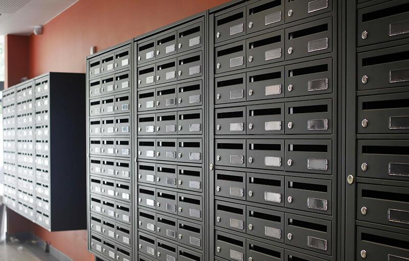 Boites aux lettres essentielle 380mm de profondeur Element5 intérieur collectif