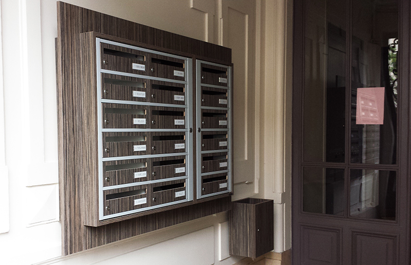 Boites aux lettres gamme essentielle 250mm de profondeur pour hall d'entrée d'immeuble element5