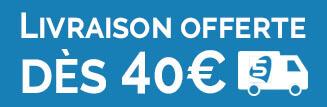 Livraison gratuite dès 40€